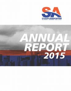 Cover of SAGBC Annual Report 2014-15