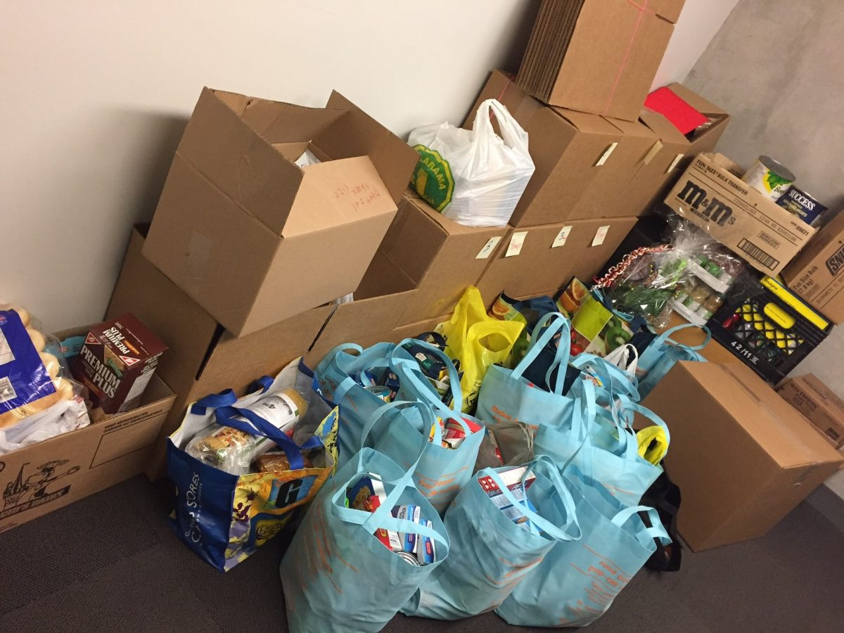 WF Food Drive Donation Bags 2016